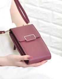 Mini bolso de hombro tipo bandolera para mujer de alta calidad con bolsillo para teléfono móvil bolso Clutch de cuero de moda bolsos de mano para mujer
